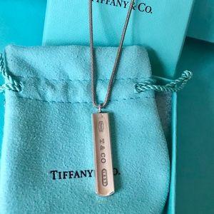Tiffany & Co. Silver 1837 Ingot Bar Necklace